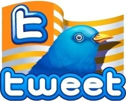 Twitter flag gold