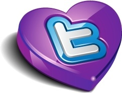 Twitter heart purple