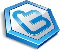 Twitter hexa blue
