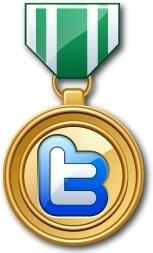 Twitter medal green