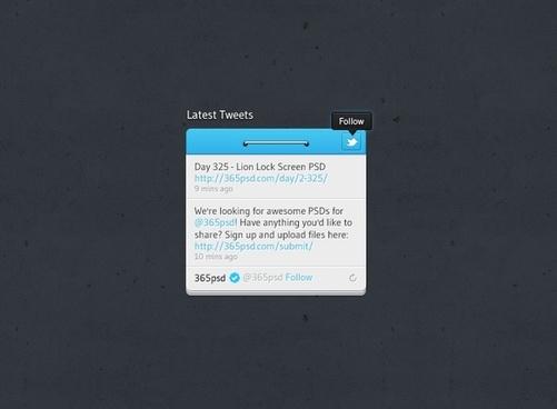 Twitter Widget Design