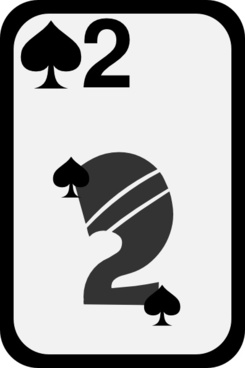 Two Of Spades clip art