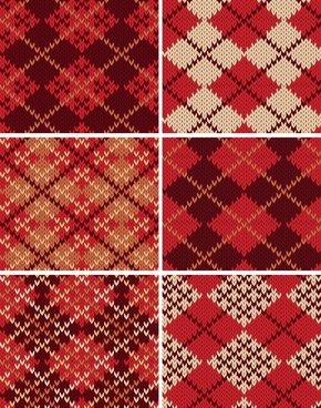woolen pattern templates classical red repeating symmetric decor