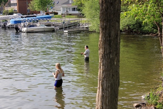 two people fishing in southern wisconsin