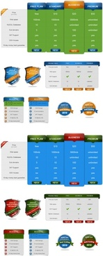 two practical web elements psd