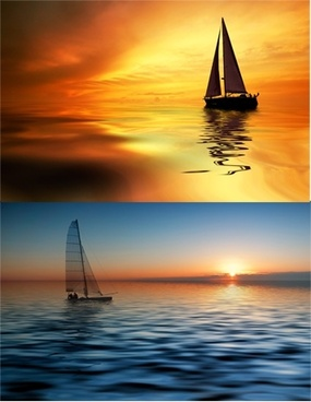 two sailing highdefinition picture