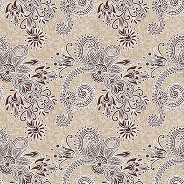 decorative pattern classical floral decor flat sketch