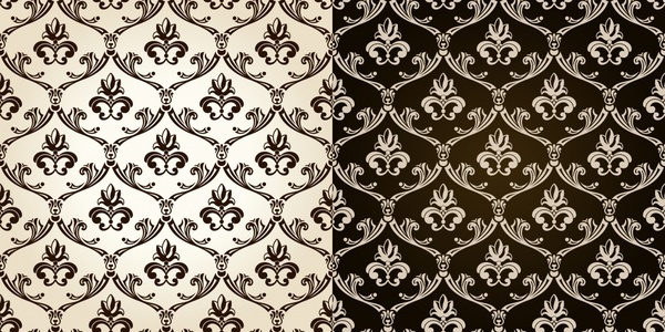 two sides continual pattern shading vector