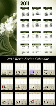 two vector calendar 2010