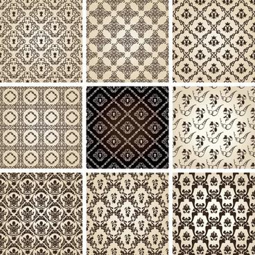 twobedroom row pattern 01 vector