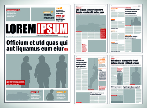 Newspaper Template Free Vector Download 15998 Free Vector For