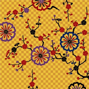 u0026quotbeautiful pattern vector background of plumu0026quot