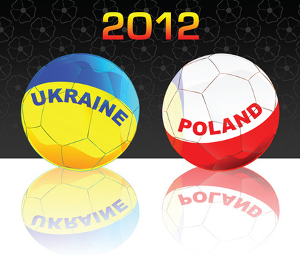 uefa euro12 design elements vector
