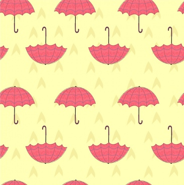 umbrella background colored repeating decoration