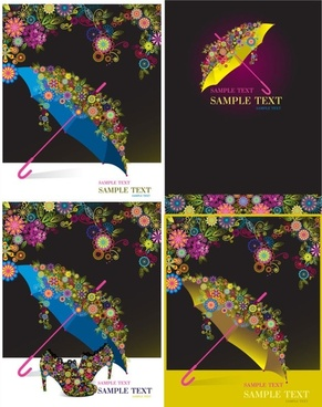 Umbrella colorful pattern vector