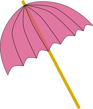 Umbrella / Parasol pink tranparent