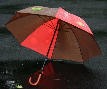 umbrella rain splash