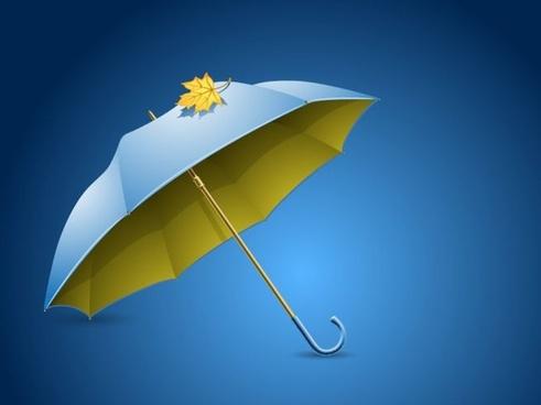 umbrella icon colored 3d design