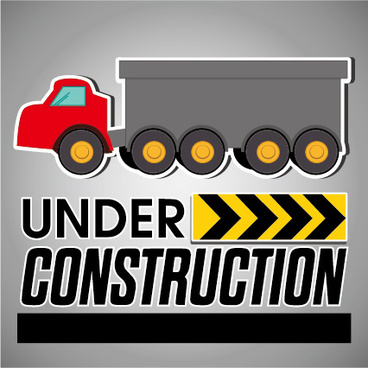 under construction sticker vector graphic
