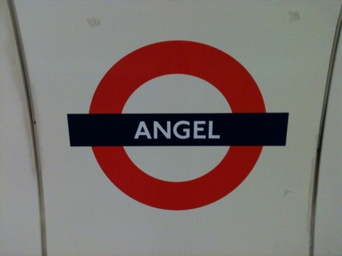 underground station sign at angel