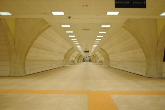 underground subway station hallway