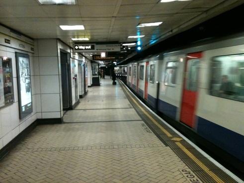 underground train arriving
