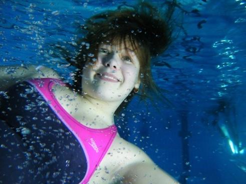 underwater child water