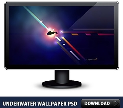 Underwater Free Wallpaper PSD