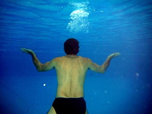 underwater swimming