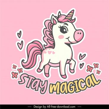 unicorn icon cute design colorful handdrawn sketch