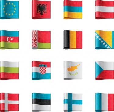 united nations flag banner vector ribbon labels