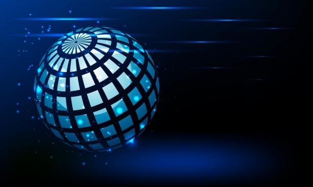 universe background 3d global icon sparkling design