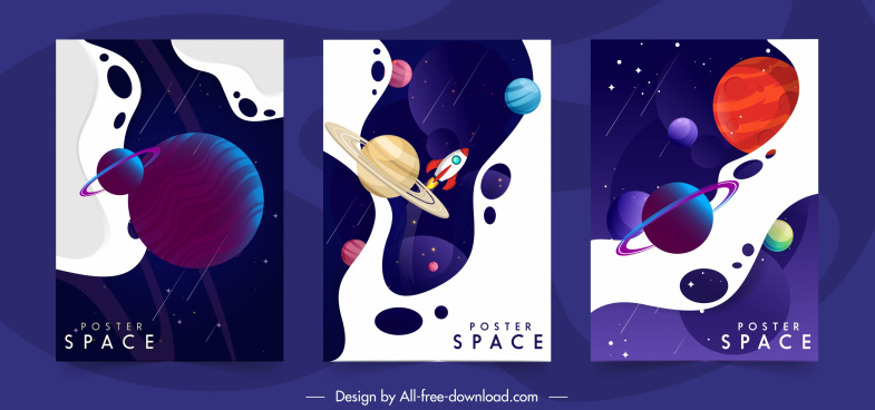 universe background templates dark colorful modern design