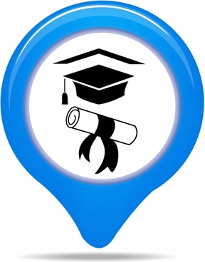 University map pointer