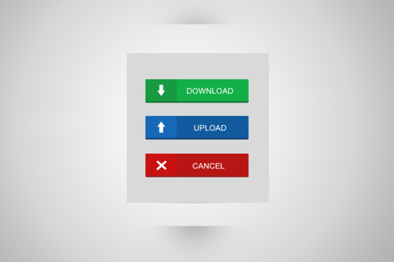 upload download flat button