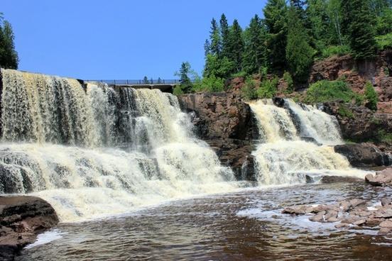 upper falls at gooseberry falls state park minnesota