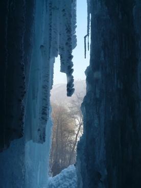urach waterfall waterfall ice curtain