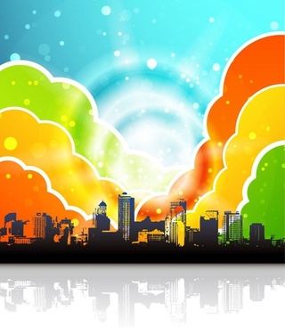 Urban Rainbow Vector Illustration