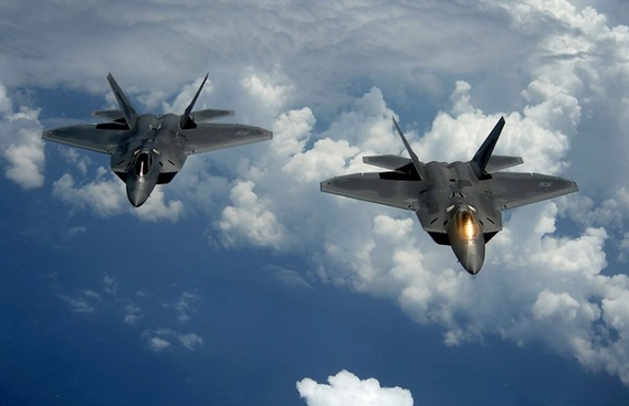 us air force military f-22 raptor