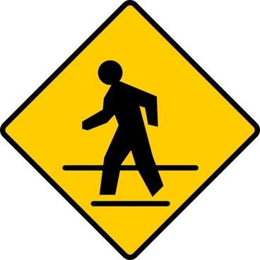 Us Crosswalk Sign clip art