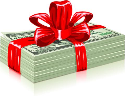 Us dollar money pack design vector