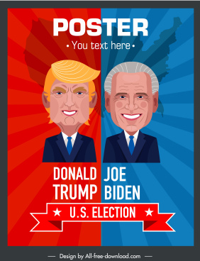 usa election poster candidate sketch cartoon design