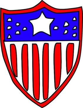 Usa Flag Badge clip art