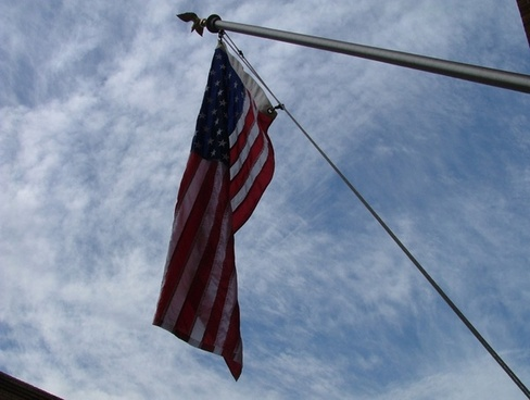 usa flag looking up