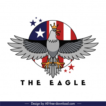 usa logo template eagle flag sketch