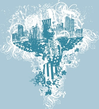 USA Urban Grunge Eagle
