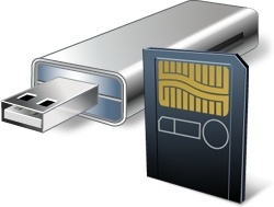 USB Flash Card With Card Reader
