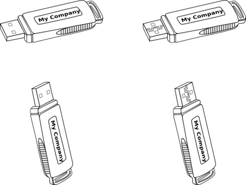Usb Flash Drive clip art