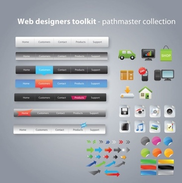 useful web design tools pack 03 vector