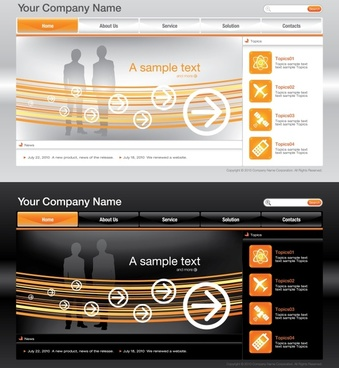 useful website template vector